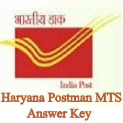 Haryana Postman HPO MTS Answer Key