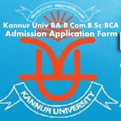 Kannur University Admission 2020