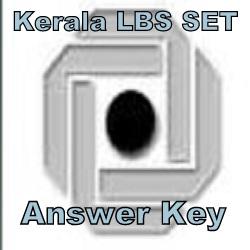 LBS Kerala SET Answer Key 2021
