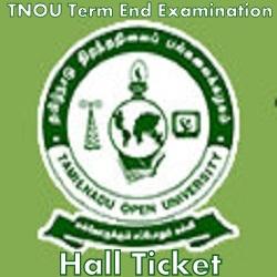 TNOU Term End Exam Hall Ticket