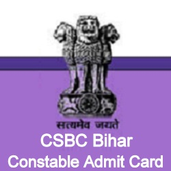 CSBC Bihar Constable Admit Card 2018
