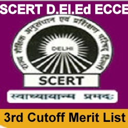 SCERT D.El.Ed 3rd Cut Off 2020