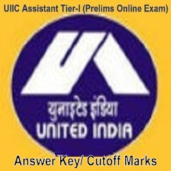 UIICL Assistant Prelims Answer Key 2019