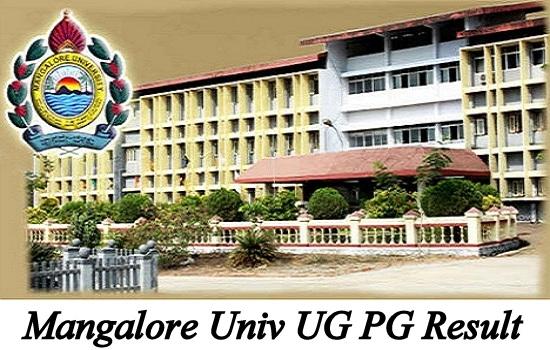 Mangalore Univ UG PG Result