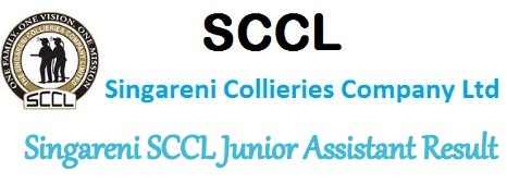 Singareni SCCL Junior Assistant Result