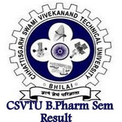 CSVTU B.Pharmacy Result 2021