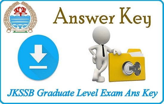 JKSSB Graduate Level Exam Ans Key 2018
