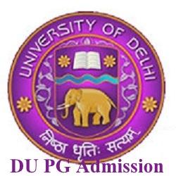 Delhi University PG Admissions 2021
