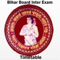 Bihar Inter Exam Schedule
