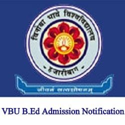 VBU B.Ed Admission Notification