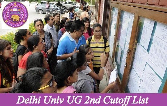Delhi Univ UG 2nd Cutoff List