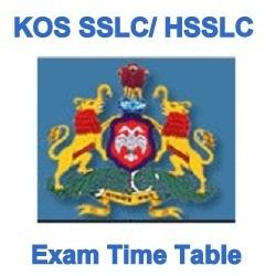 KOS SSLC Exam Time Table