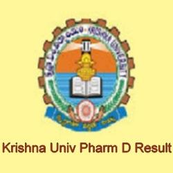 Krishna University Pharm D Result 2021