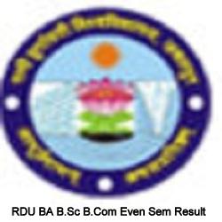 RDU BA B.Sc B.Com Even Sem Result