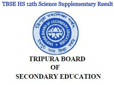 Tripura TBSE HS 12th (10+2) Science Supplementary Result