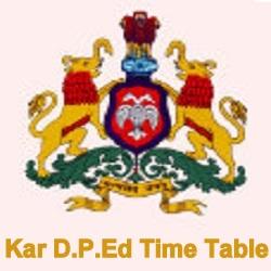 Kar D.P.Ed Time Table