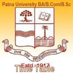 Patna University Time Table 2020