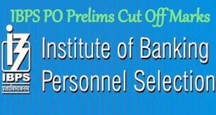 IBPS PO Prelims Cut Off Marks