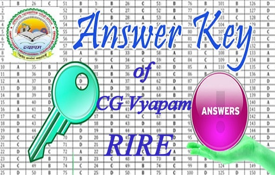 CG VYAPAM RIRE Set Wise Answer Key