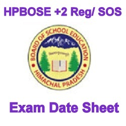 HPBOSE 12th Class Exam Date Sheet