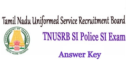 TNUSRB SI Answer Key