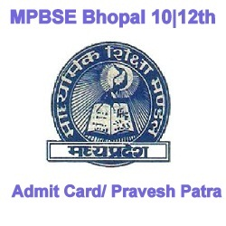 MPBSE Admit Card 2021