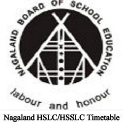 Nagaland HSLC/HSSLC Timetable