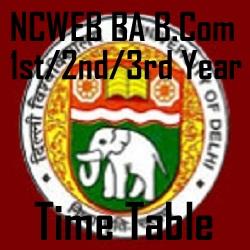 NCWEB BA B.Com Timetable
