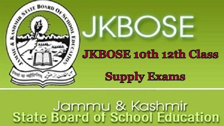 JKBOSE 10th 12th Class Supply Exams