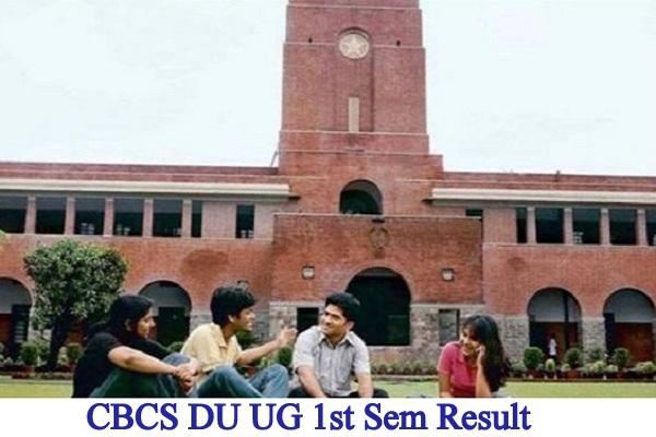 CBCS DU UG 1st Sem Result