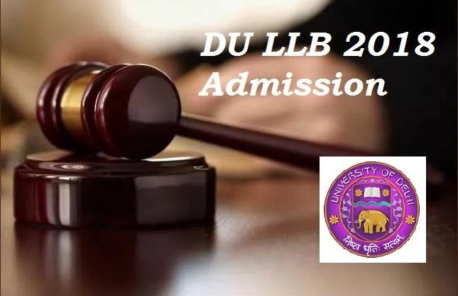 DU LLB Online Application