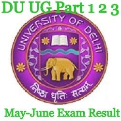 DU UG Part 1 2 3 Exam Result