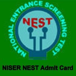 NISER NEST 2018 Admit Card,