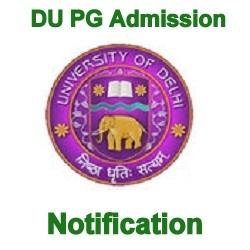 DU PG Admission Notification