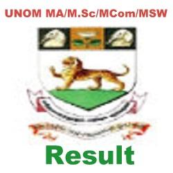 Madras University PG Result