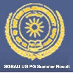 SGBAU UG PG Summer Result