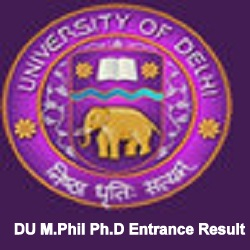 DU M.Phil & Ph.D. Entrance Result 2020