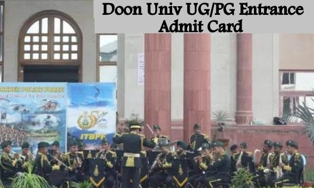 Doon University Entrance Admit Card 2020