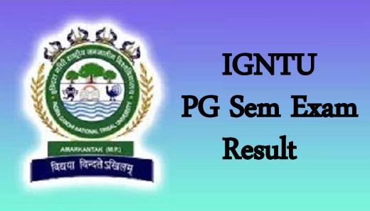 IGNTU PG Result 2020