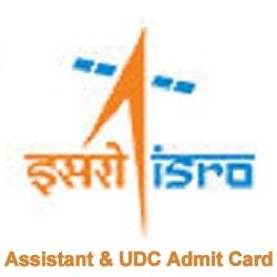 ISRO Admit Card