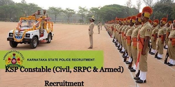 KSP Kar Constable (Civil, SRPC & Armed) Recruitment