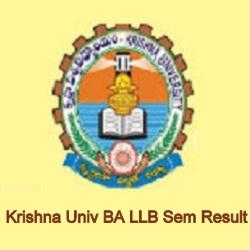 Krishna University BA LLB Result 2021