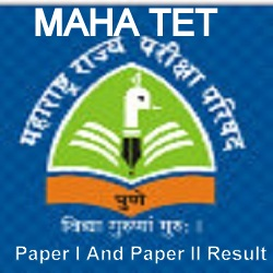 MAHA TET Paper I And Paper II Result