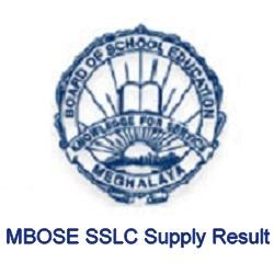 MBOSE SSLC Supply Result
