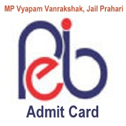 PEB MP Jail Prahari Admit Card 2020
