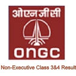 ONGC Non-Executive Class 3&4 Result