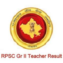 RPSC 2nd Grade Teacher Result 2021