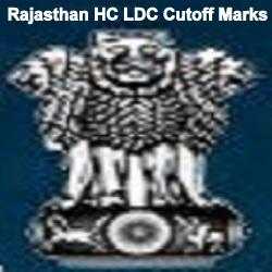Raj HC LDC Cutoff marks