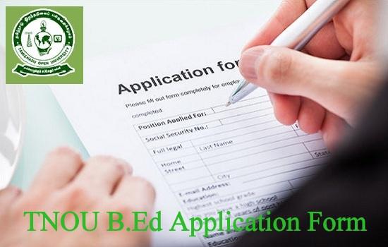 TNOU B.Ed Admission 2021