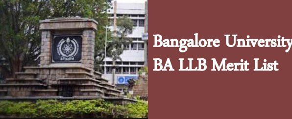 Bangalore University BA LLB Merit List